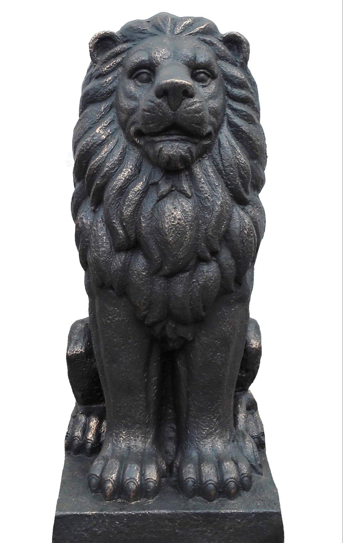 "TIAAN 28"" Lion King Concrete Statues Garden Statue Decor Lion Sculptures Outdoor Indoor Ornament Home Patio Large Figurines by TIAAN (Image #5)"