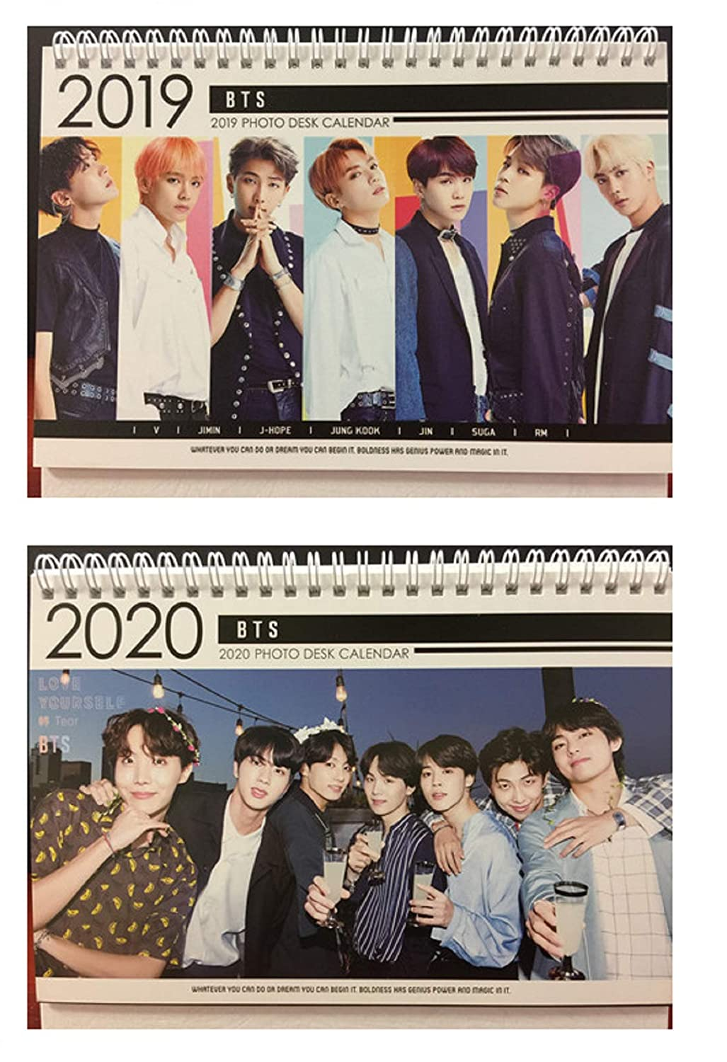 Unt Calendar 2020 Amazon.: Kpop BTS Bangtan Boys 2019 & 2020 Photo Desk Calendar