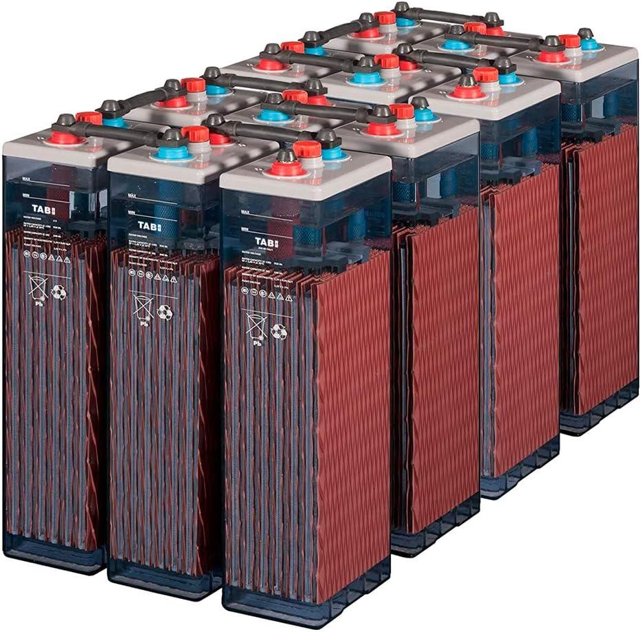 Baterías solar fotovoltaicos 12 unidad TAB 6 OPzS 300-450Ah 2V vida diseñada Mas de 20 años