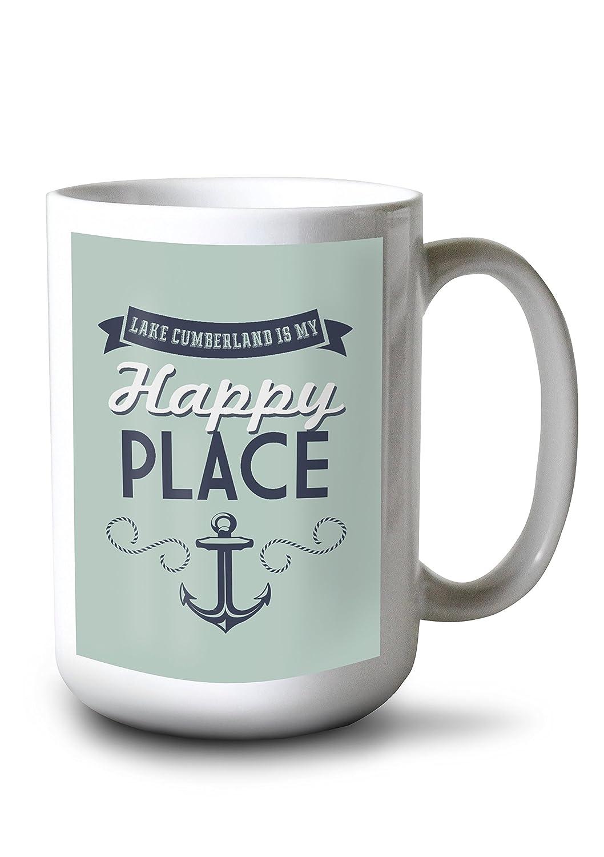 【超目玉枠】 湖ケンタッキー州Cumberland , is 10 my happy place Mug – 上のアンカーデザイン(ブルーグリーン) Mug 10 x 15 Wood Sign LANT-73576-10x15W B0784MB69T 15oz Mug 15oz Mug, いとや:b6c0d63a --- arianechie.dominiotemporario.com