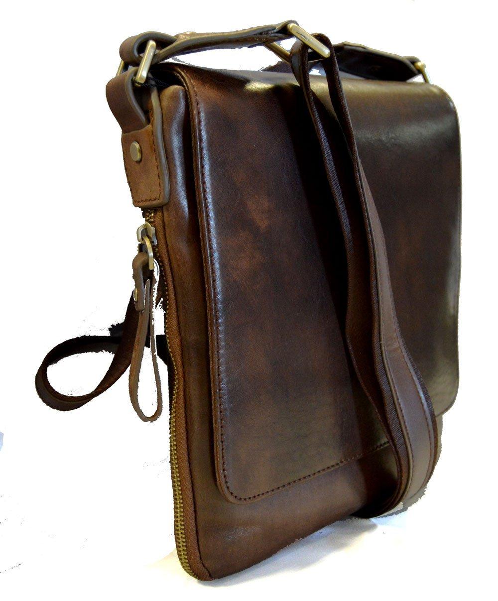 Amazon.com  Leather shoulder bag mens women sling bag messenger leather  satchel crossbody leather postman bag hobo bag dark brown  Handmade 06e04f9545f0b
