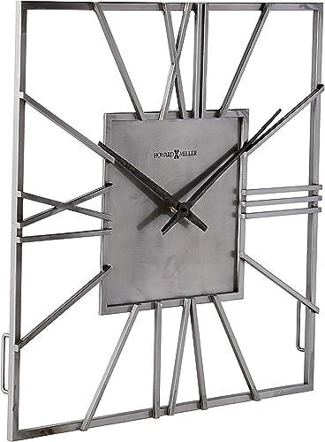 Howard Miller Lorain Wall Clock 625-611 Oversized Modern with Quartz Movement