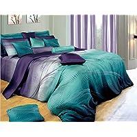 Vitara Quilt Cover Set, 3 Piece Duvet Cover Set Includes 2 Pillowcases, Doona Cover Set (King Size)