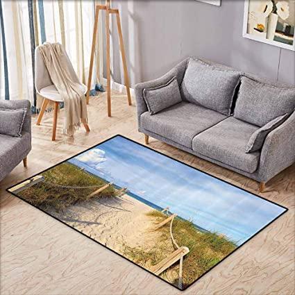Amazon Com Room Bedroom Floor Rug Seaside Decor Collection