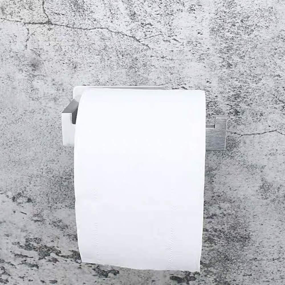 Achort Acciaio Inossidabile Portarotolo Carta Igienica Adesivo Carta Igienica Autoadesivo Spazzolato per Bagno e Cucina Porta Carta Igienica