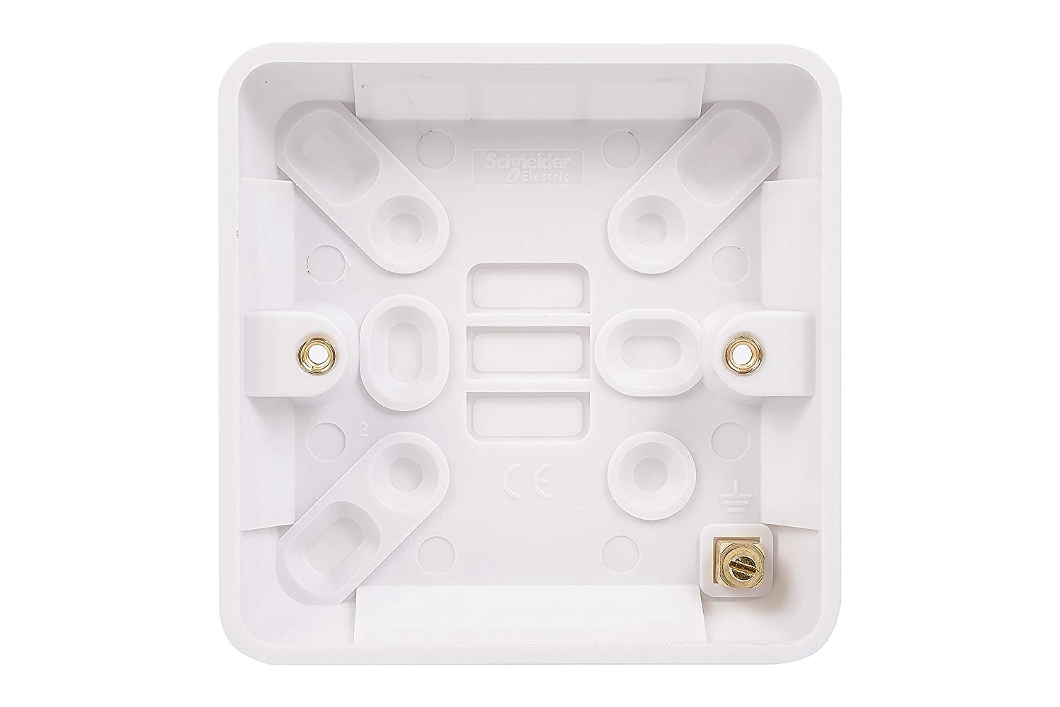 Schneider Electric GGBL9116 Lisse White Moulded Surface Pattress Box 1 Gang White 16mm Pack of 10