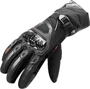 TAGVO Winter Motorcycle Gloves, WaterProof Hard Knuckle Protector Riding Gloves