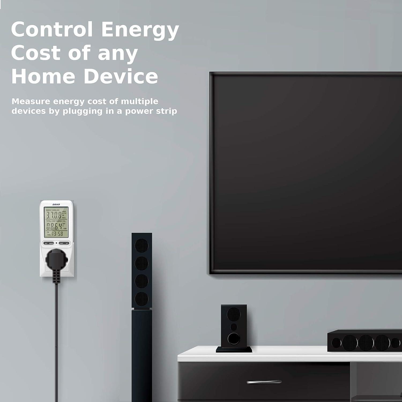 Medidor de consumo electrico GS ORNO WAT-435 Bater/ía incorporada 3680W