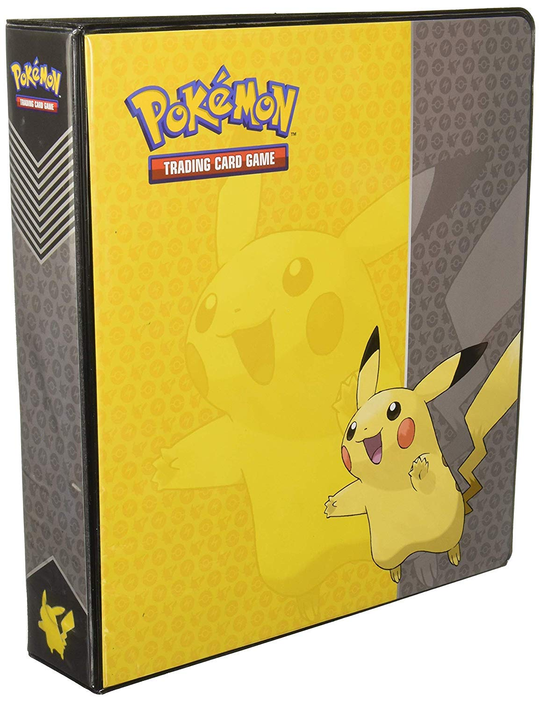Pikachu Ultra Pro 2 Inch 3 Ring Binder 2 Wide Soft Plastic Card Storage Binder Portfolio Album