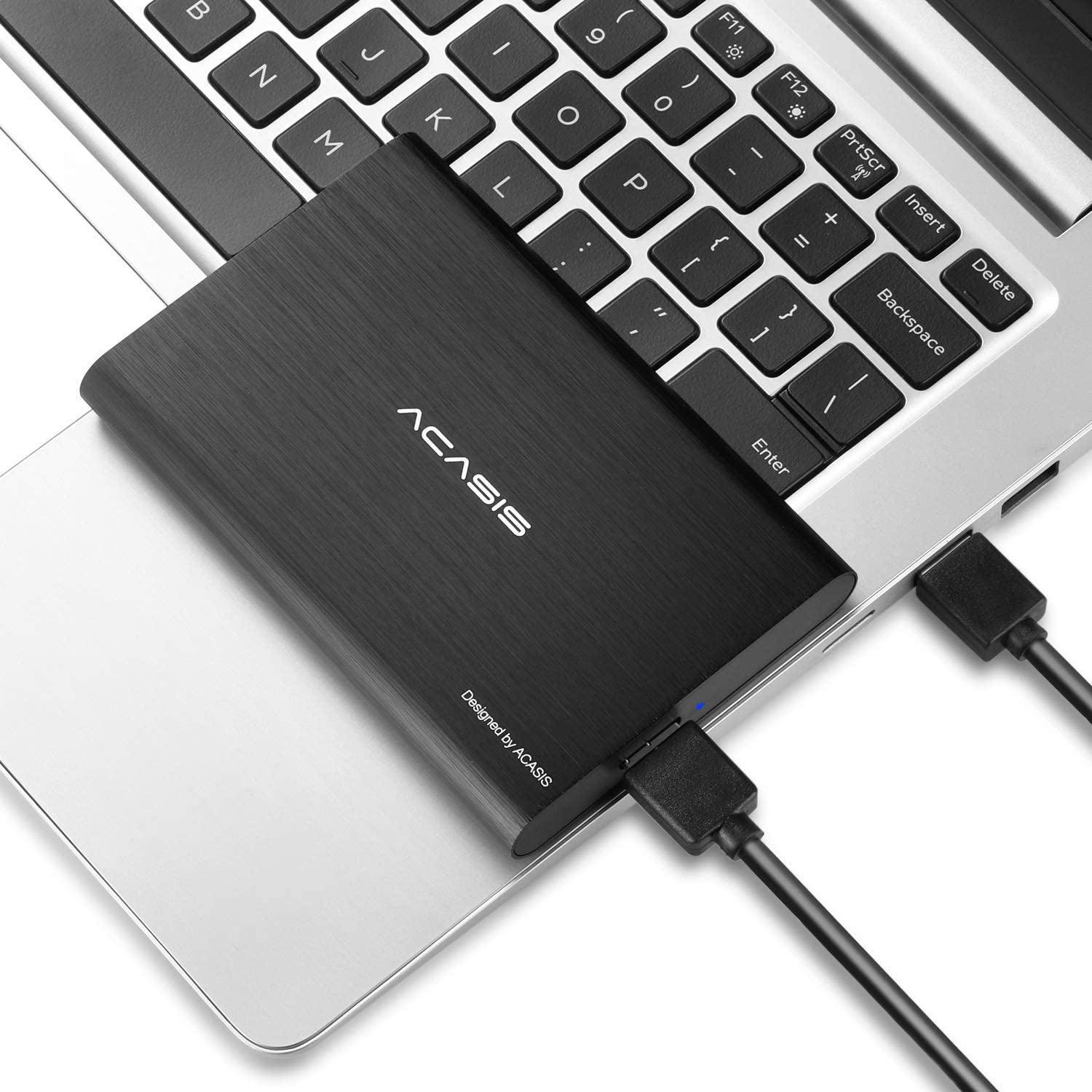 "80GB Portable External Hard Drive USB3.0 Hard Disk 2.5"" HDD Storage Devices Desktop Laptop (Black)"