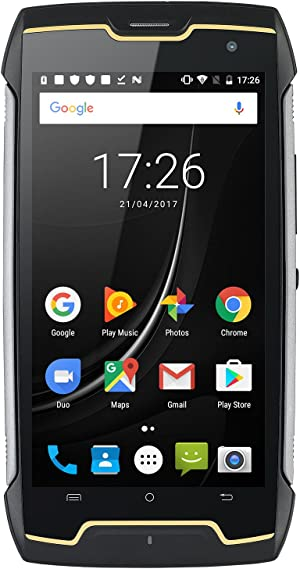 CUBOT Kingkong (2020) Android 10 Rugged Smartphone Unlocked, 4400mAh Big Battery, Dual-SIM, Compass+GPS, IP68 Waterproof Shockproof, Dustproof Outdoor Sim Free Mobile Phone(Black)