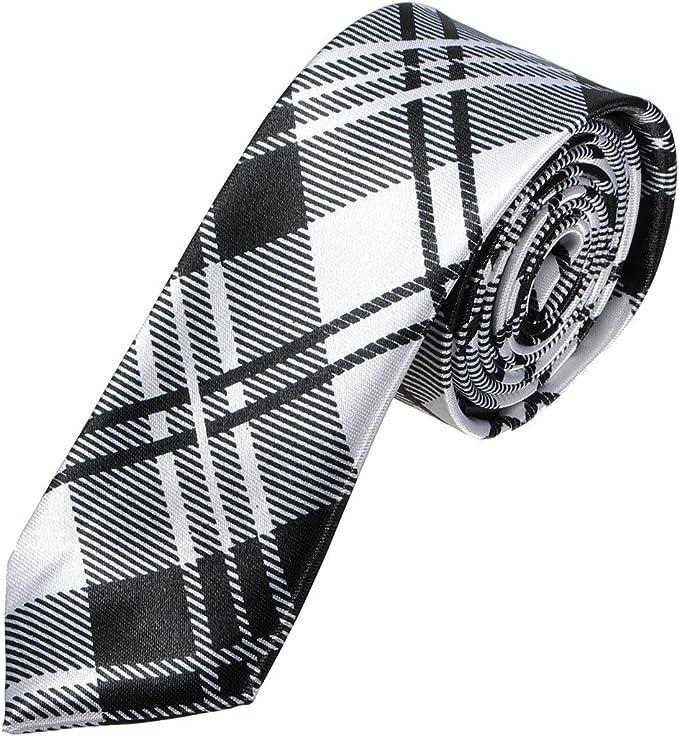 TOOGOO Corbata delgada de seda de hombre para la boda de fiesta de ...