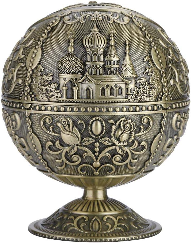 Akozon Runde Ball Vintage Kunst Handwerk Metall Runde Kugel Gestempelt Muster Geschenk