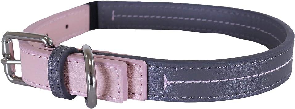 Tan 14-18-inch Rosewood Leather Dog Collar