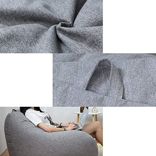 Longma Super Comfy Bean Bag Chair, Memory Foam Bean Bag Sofa Chair with Removable Micro Fiber Cover Lazy Sofa Beanbag Tatami with Particle Filler for Kids,Teens Adults