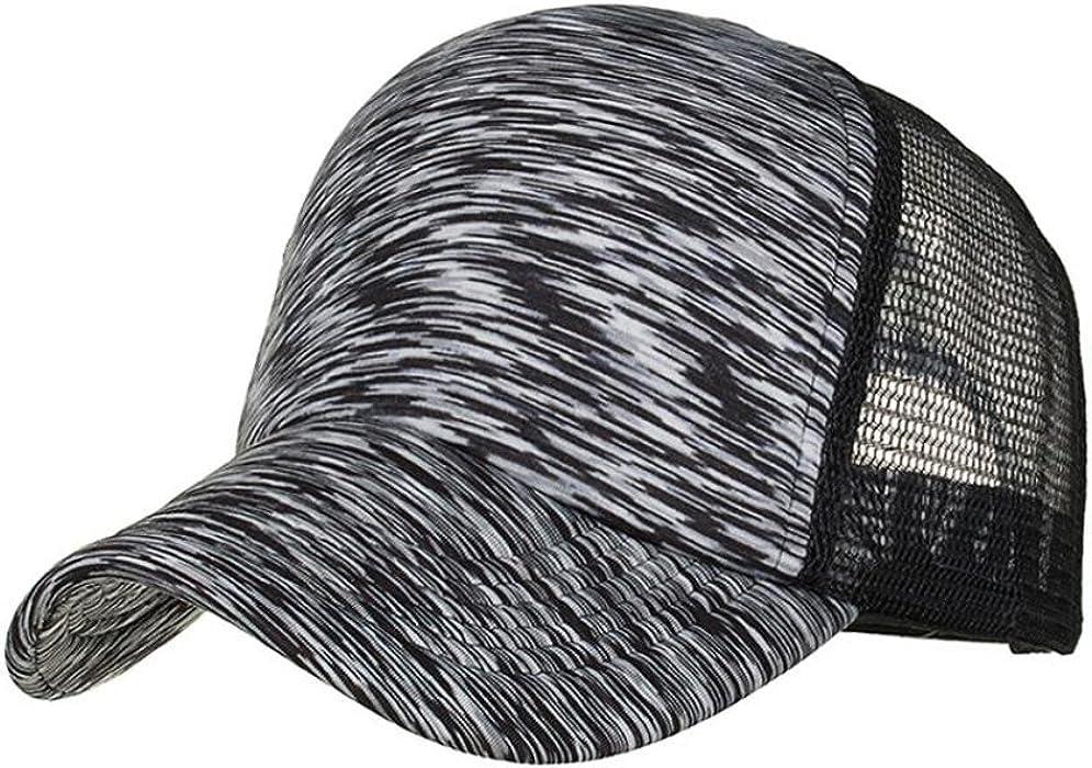 Logobeing Gorra de Béisbol Ajustable del Sombrero Mujere Hombre Verano a Rayas de Colores Gorra de