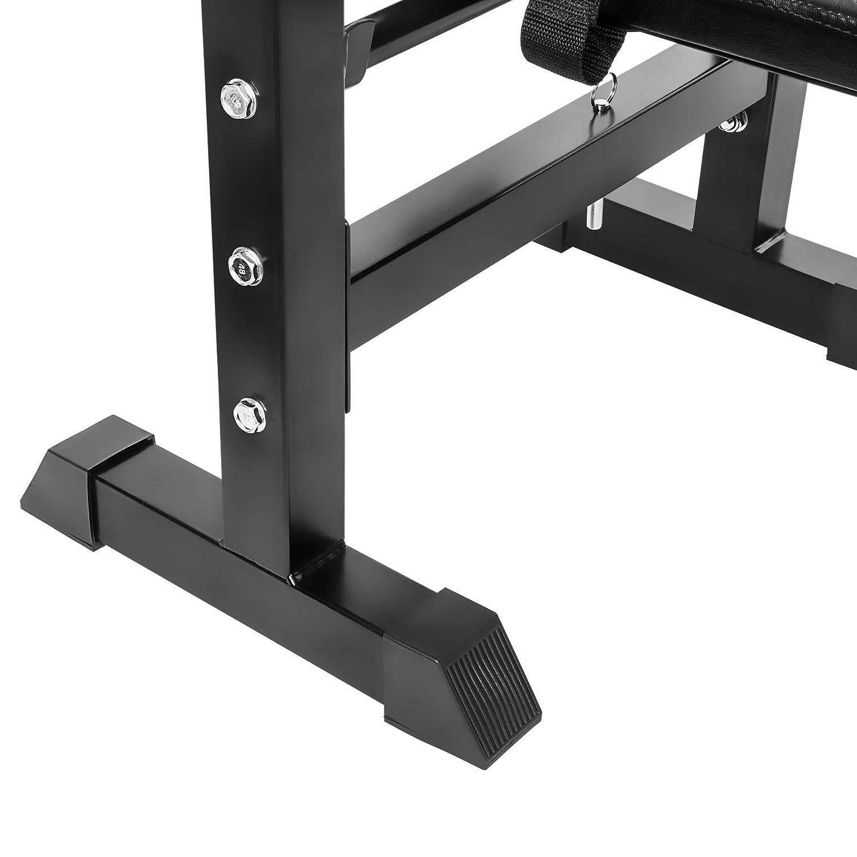 TecTake Banc de musculation avec support de bar pliable r/églable ajustable dappartement