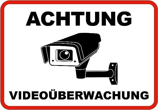 Schild,Individuell,Aufkleber,video,überwachung,videoüberwacht,video,Kamera Vi61