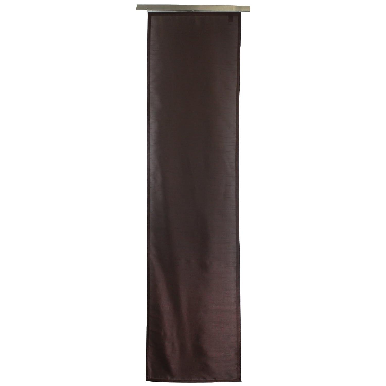 Gözze 66015-10-6045 - Tenda a pannello Dakar, permeabile alla luce, in tessuto decorativo effetto seta, 60 x 245 cm, compresi accessori per il montaggio, con velcro adesivo in dotazione, poliestere, ecotessuto 100, colore: crema