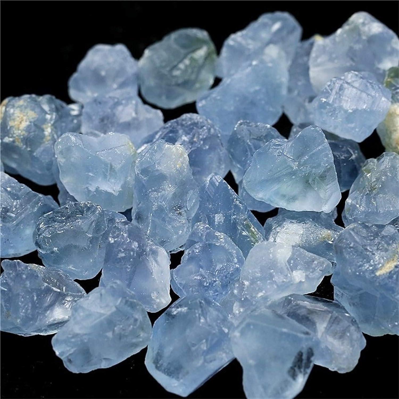 ACEACE 50 g de Piedra Natural Minerales como Madagascar Piedra Decoración Celestina Azul Celestina cristalina de la Piedra Azul Celestino Piedra (Size : 230g)