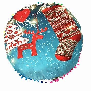 Fundas de almohada, wanshop® Navidad almohadas redonda de Bohemia borla casa cojín almohadas funda suelo cubierta de almohadas: Amazon.es: Hogar