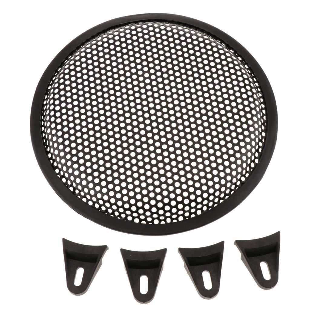 Homyl Grille De Protection pour Haut-Parleur Grille Haut-Parleur Protecteur en M/étal Noir 12 Pouces