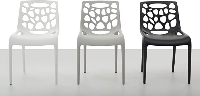 Set di 2 sedie da Pranzo in plastica Bianca Morgan: Beliani