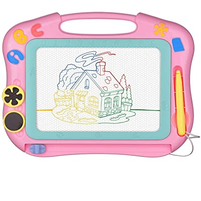 LOFEE Magna Drawing Doodle Board Present for 1 2 3 4 Year Old Girl,Magnetic Drawing Board Gift for 2 3 4 Year Old Girl Toy Age 1 2 3 Birthday Gift for 2 3 4 Year Old Girls Small Toys for Travel: Toys & Games