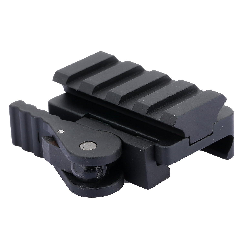 Alcance tá ctico rá pido de lanzamiento del adaptador del montaje del carril de 20 mm Base de Picatinny del tejedor Dophee