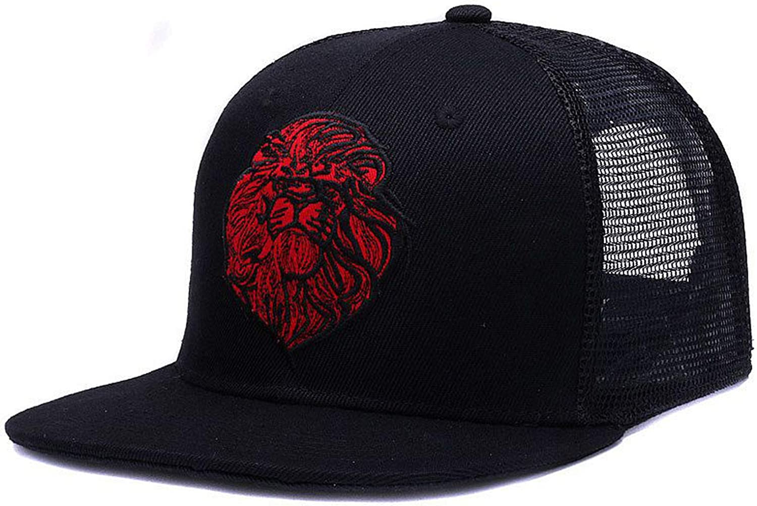 Original Black Baseball caps Hats Embroidery Lion mesh Snapbacks Hip hop Bone Trucker hat