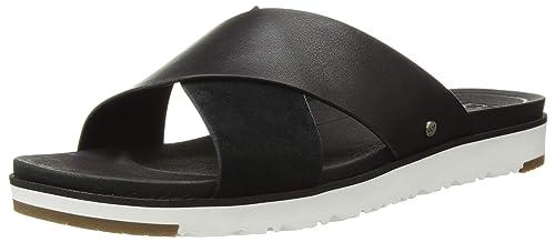 86922947104 UGG Women's Kari Metallic Flat Sandal