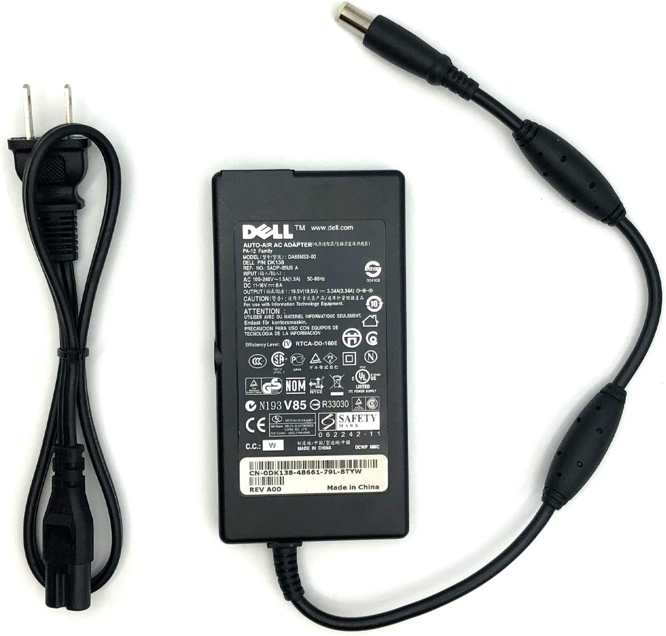 Genuine Dell Slim Auto Air AC Adaptor - DA65NS3-00