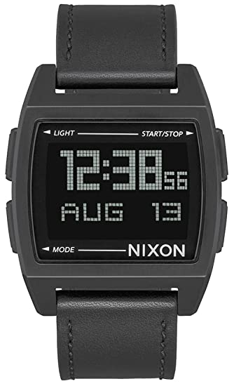 Reloj NIXON Base Leather All Black A1181001 Hombre Negro: Amazon.es: Relojes