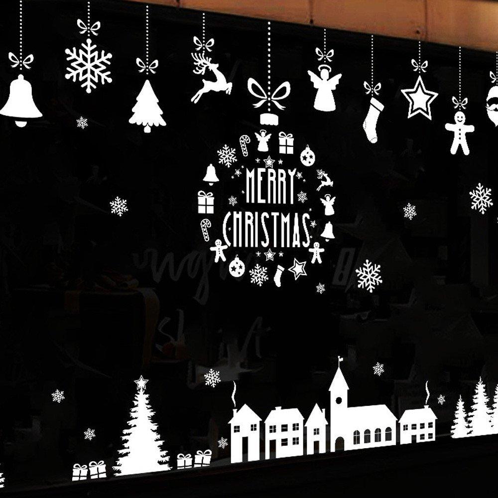 Fenetre koly Decoration Muraux Vitres Noël Noel De Stickers fgv6yY7b