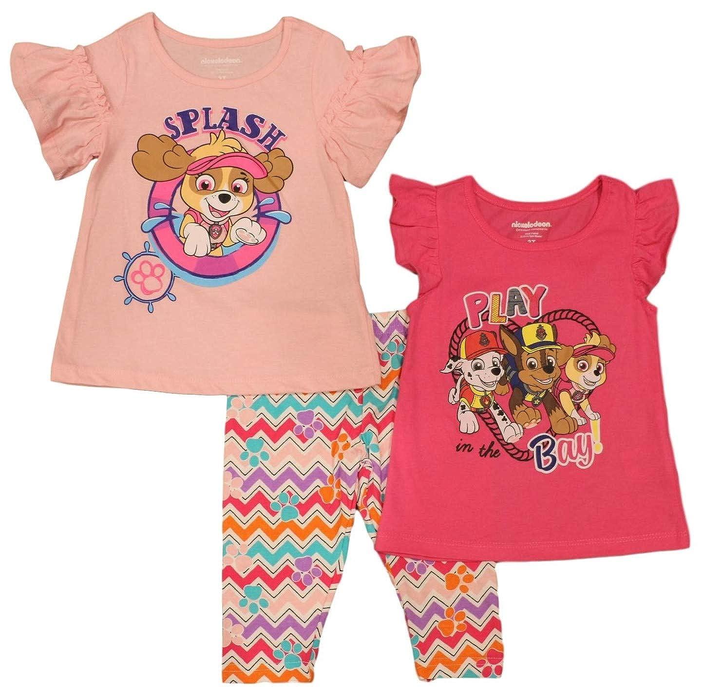 Paw Patrol Little Girls Skye 3 Piece Leggings Set