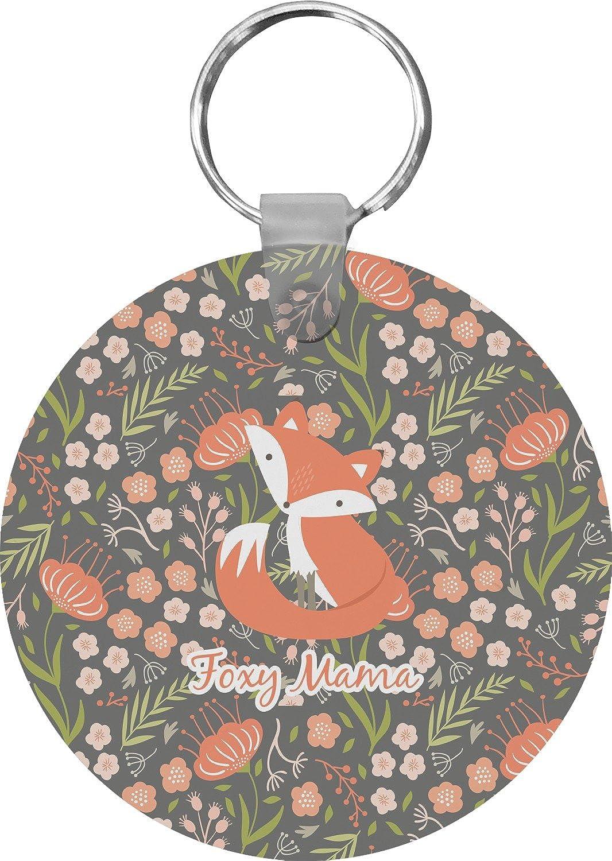 Foxy Mama Round Keychain