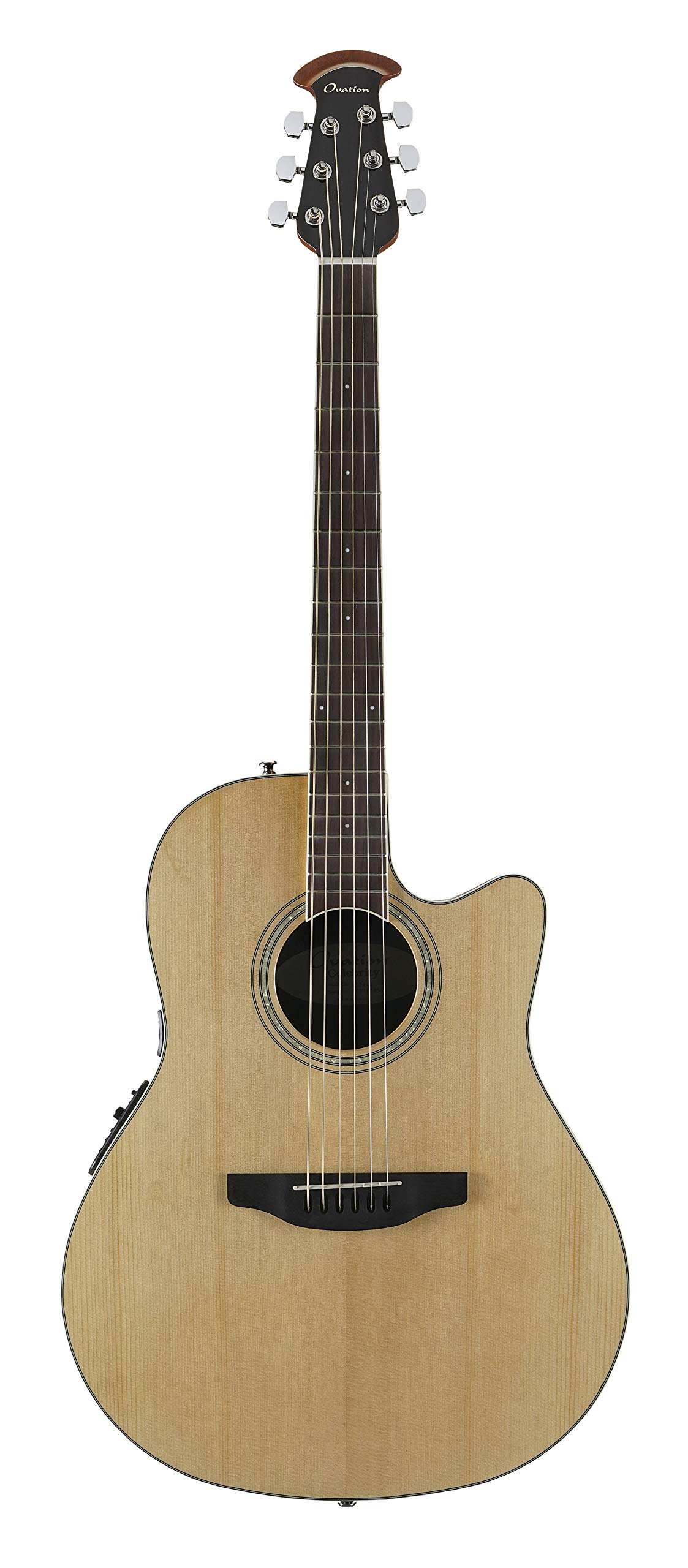 Ovation 6 String Acoustic-Electric Guitar, Right Handed, Natural (CS24-4) by Ovation