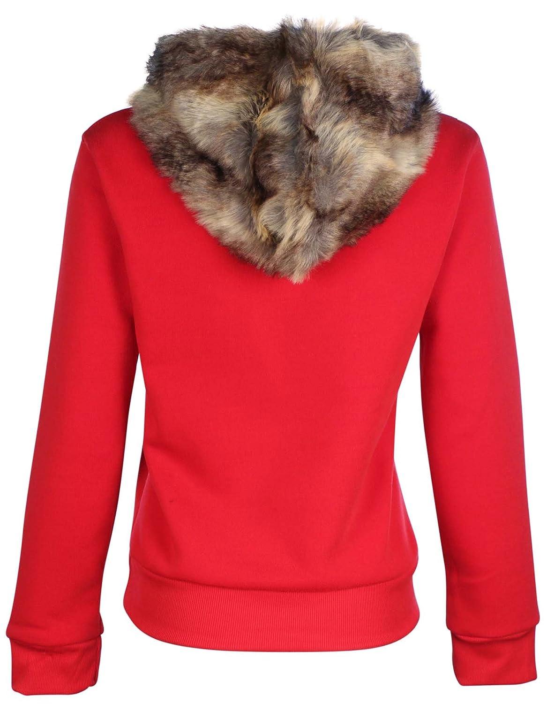 64f5519dc True Rock Jr Women s Faux Fur Hoodie-Black at Amazon Women s ...
