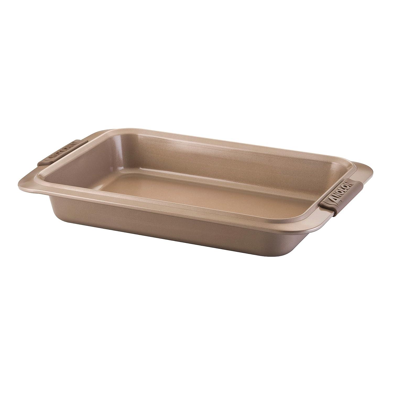 Anolon Advanced Bronze Nonstick Bakeware 9 by 13-Inch Rectangular Cake Pan 57035