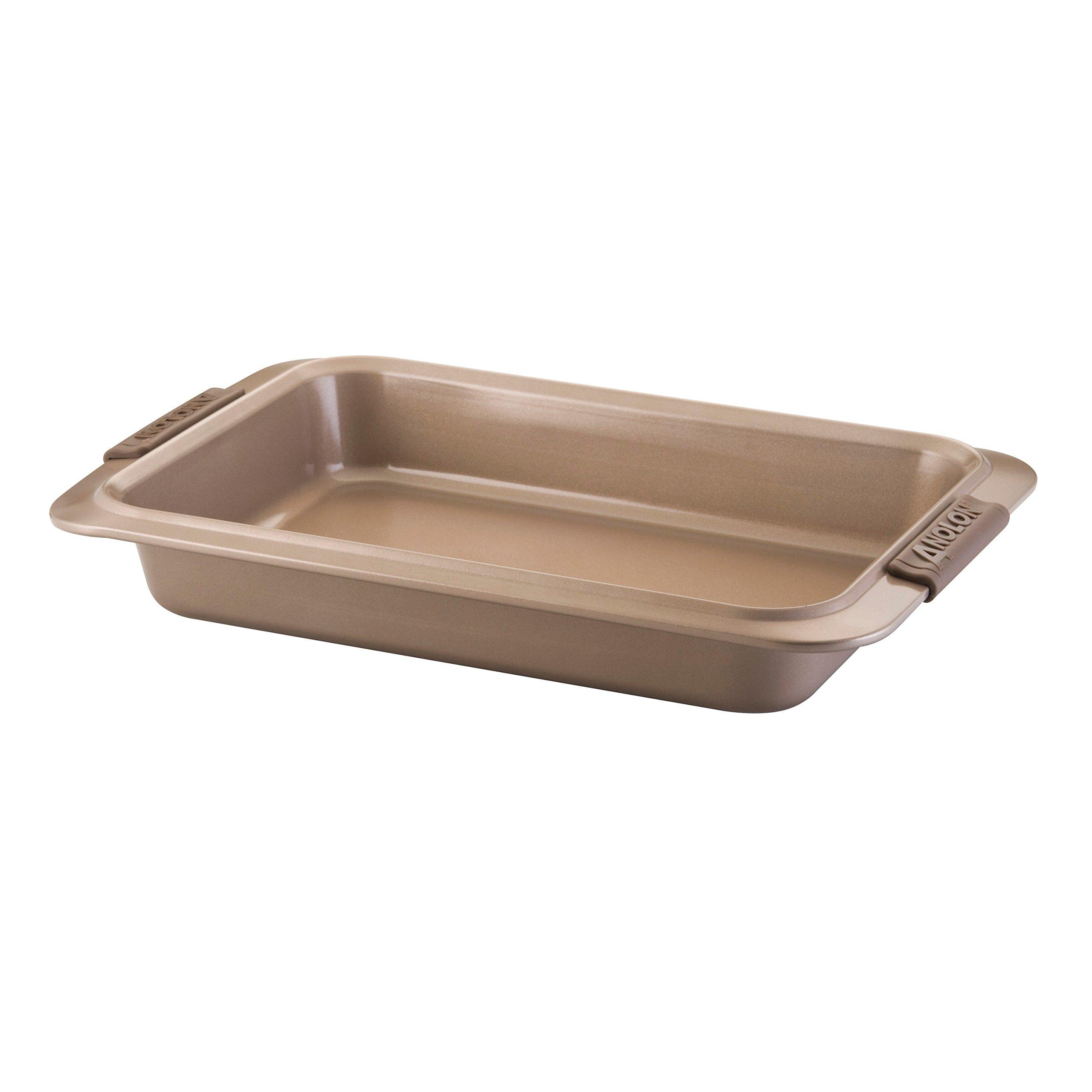 Anolon Advanced Bronze Nonstick Bakeware 9 by 13-Inch Rectangular Cake Pan by Anolon