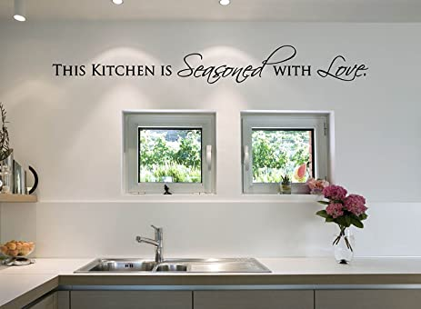 Amazon.com: This Kitchen is Seasoned with Love Vinyl Decal - Kitchen ...