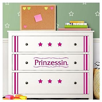 Wandaro W3347 Wandtattoo Prinzessin Sterne I Lavendel I Passend Fur
