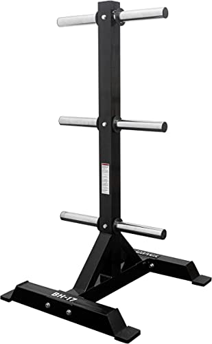 Valor Fitness Olympic Weight Rack for Plates Plate Storage Weight Tree Stand Bumper Plate Holder Olympic Barbell Storage for Clean, Organized Home or Garage Gym