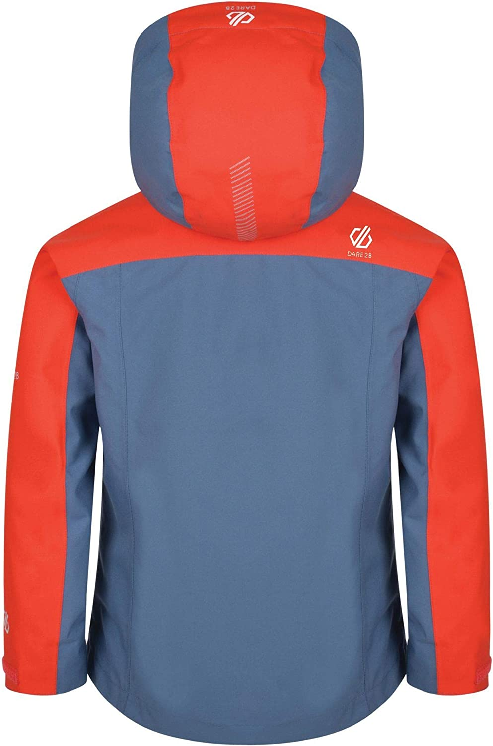 Dare 2b Childrens Avail Waterproof and Breathable Roll Away Hooded Shell Jacket