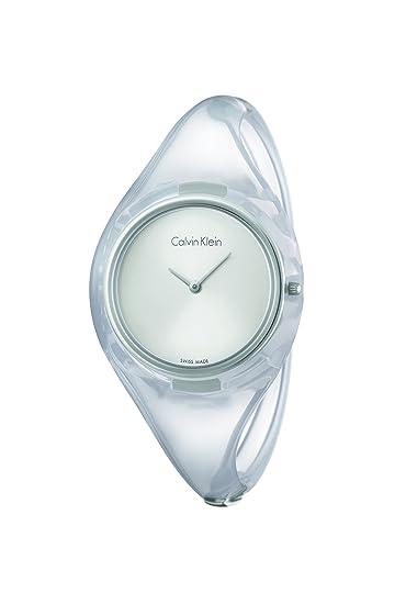 Calvin Klein Reloj analógico para Mujer de Cuarzo con Correa en plástico K4W2MXK6: Amazon.es: Relojes