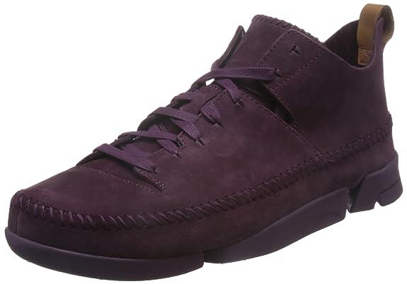 Clarks Originals Trigenic Flex, Sneakers Basses Femme, Violet (Purple Nubuck), 40 EU