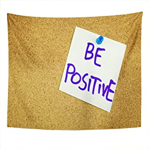 Houlor Tapestry Sticky Note Writing Caption Positive Motivational Lifestyle Wall Hanging Art Print Home Polyester Decoration Apartment Bedroom Living Room 50x60 Inches