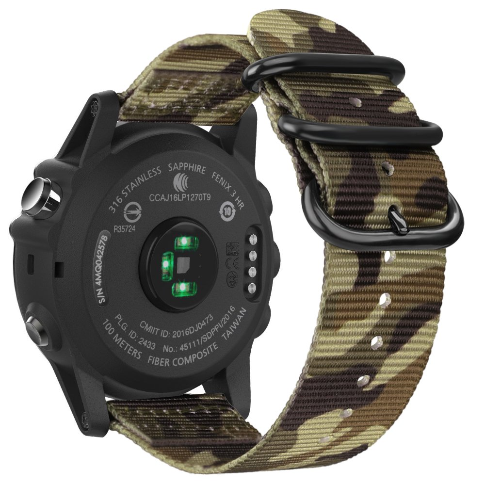 Amazon.com: Fintie Band for Garmin Fenix 5X Plus/Fenix 3 HR Watch, 26mm Premium Woven Nylon Bands Adjustable Replacement Strap for Fenix 5X/5X Plus/3/3 HR ...
