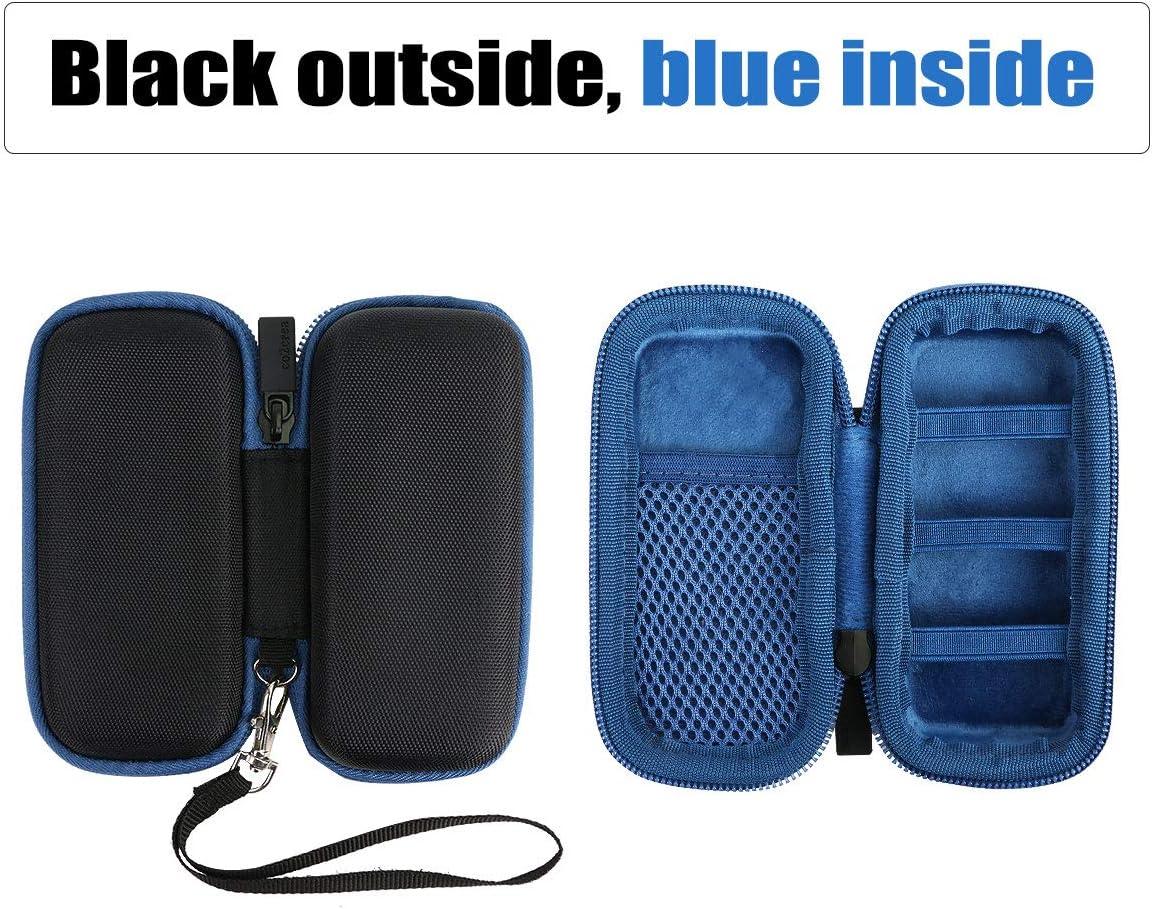 co2CREA Duro Viajar Caso Cubrir para Bosch Professional Medidor l/áser de distancia GLM 20 Negro//Cremallera azul