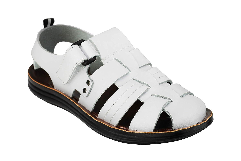 Xposed Sandales en Cuir pour Homme Style J/ésus
